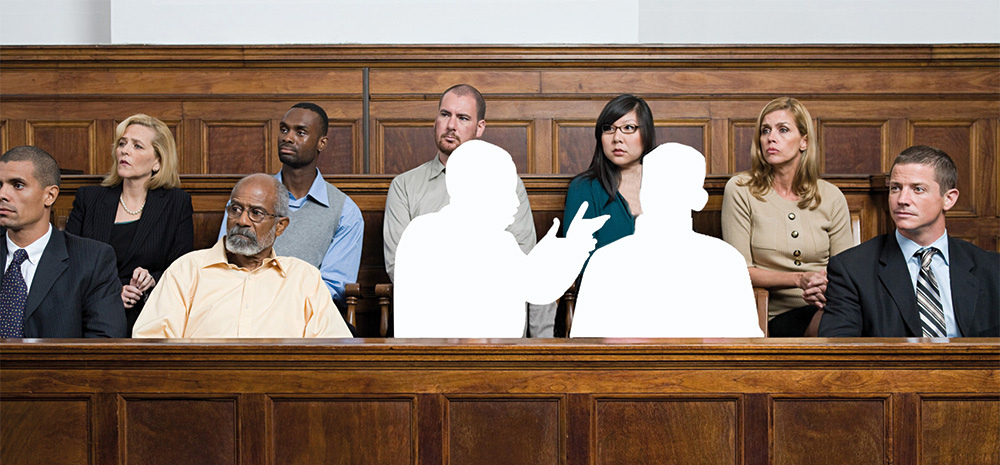 jury with two shadows