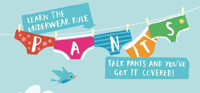 nspcc underwear rule logo