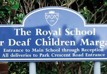 margate deaf school sign