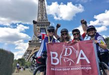 bike team bda flag eiffel tower