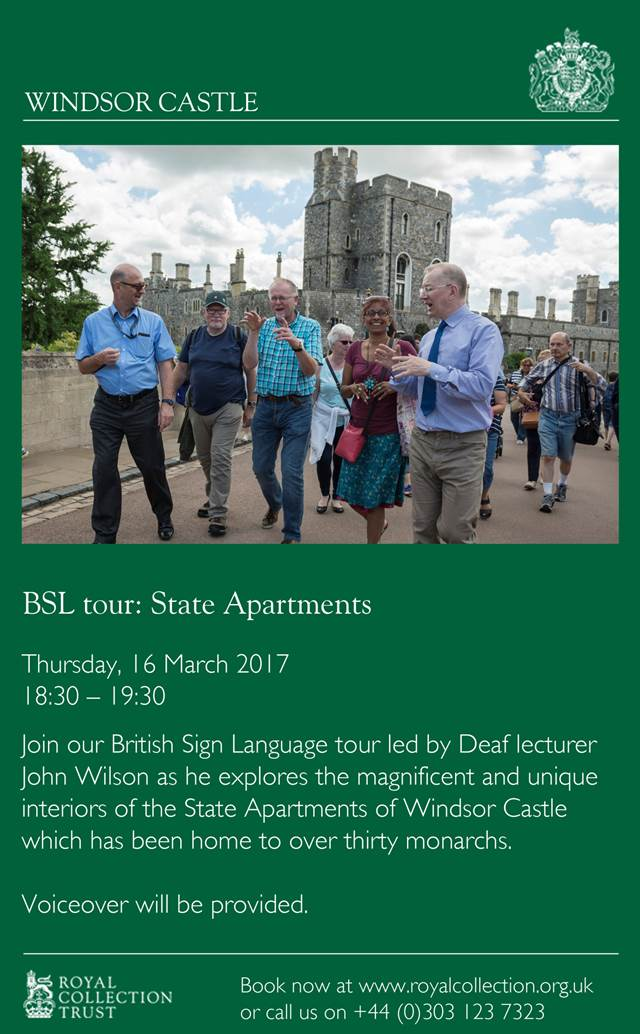 Windsor Castle - BSL tour: State Apartments