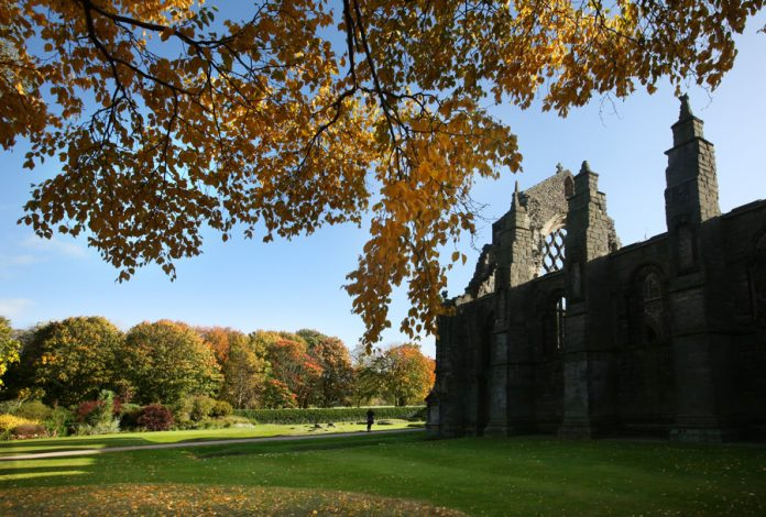 Holyrood Abbey and Palace gardens