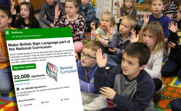 National Curriculum with BSL - Petition