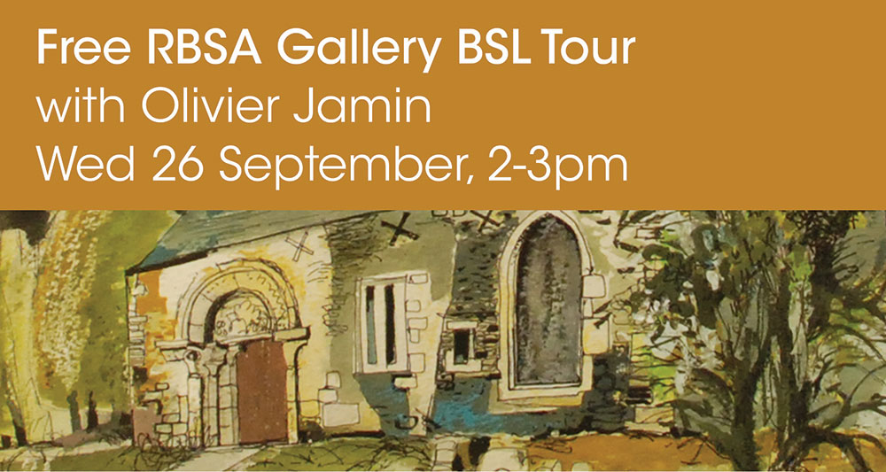 Free RBSA Gallery BSL Tour with Olivier Jamin